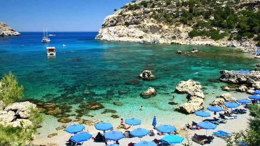Морски плаж в Гърция
